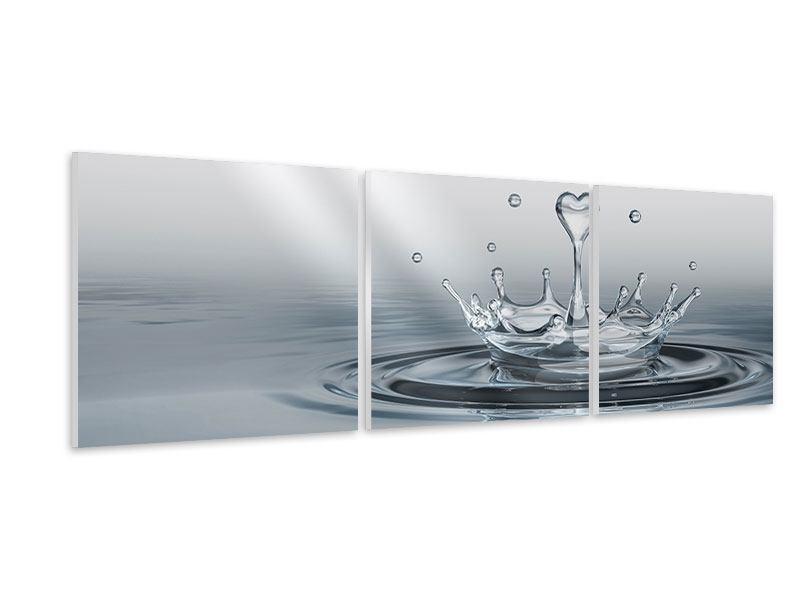 Panorama Hartschaumbild 3-teilig Wasserfigur