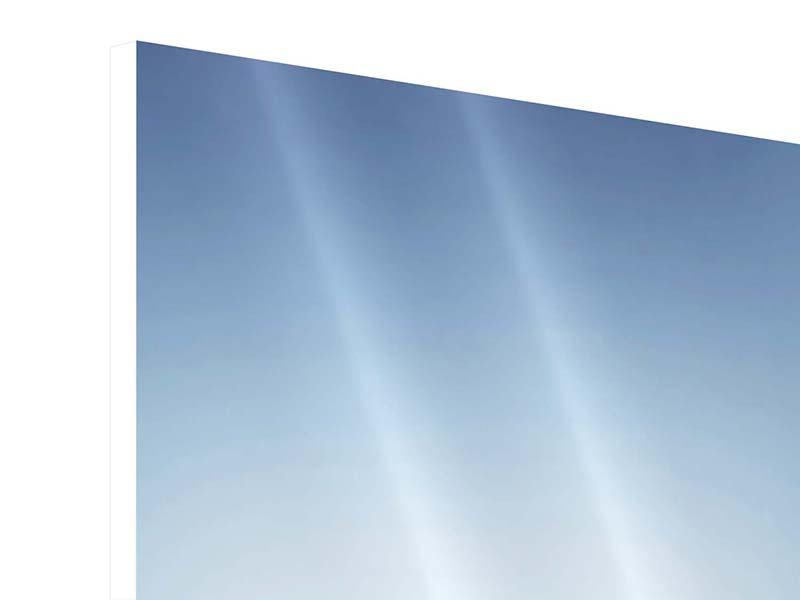 Panorama Hartschaumbild 3-teilig Der Tropfen