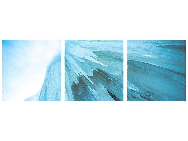 Panorama Hartschaumbild 3-teilig Die Eiswand