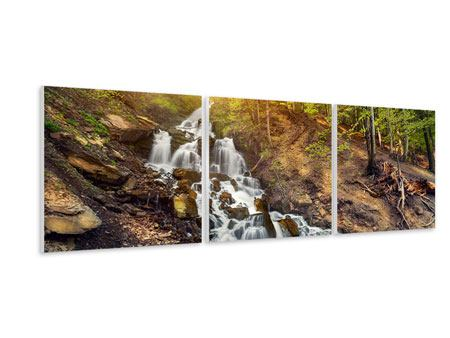 Panorama Hartschaumbild 3-teilig Naturschönheit