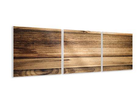 Panorama Hartschaumbild 3-teilig Holztrend