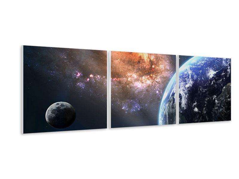 Panorama Hartschaumbild 3-teilig Universus