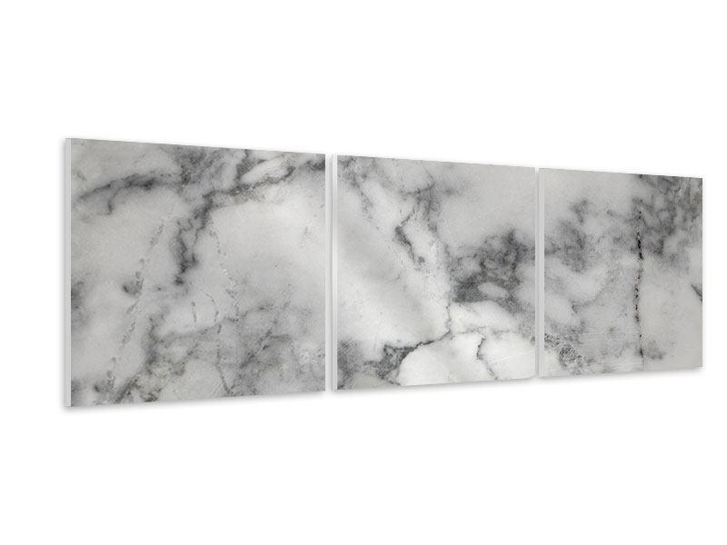 Panorama Hartschaumbild 3-teilig Klassischer Marmor