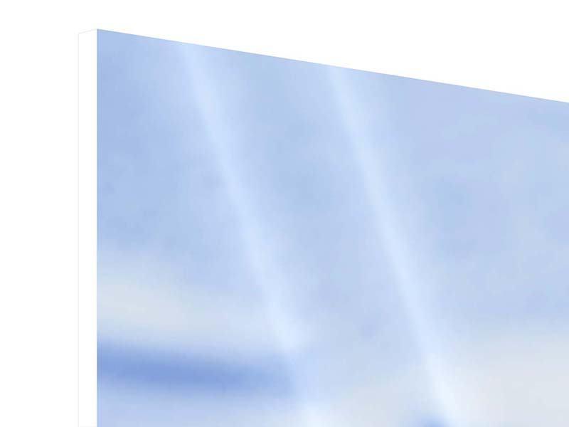 Panorama Hartschaumbild 3-teilig Eiswürfel