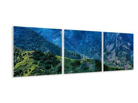 Panorama Hartschaumbild 3-teilig Die Berglandschaft