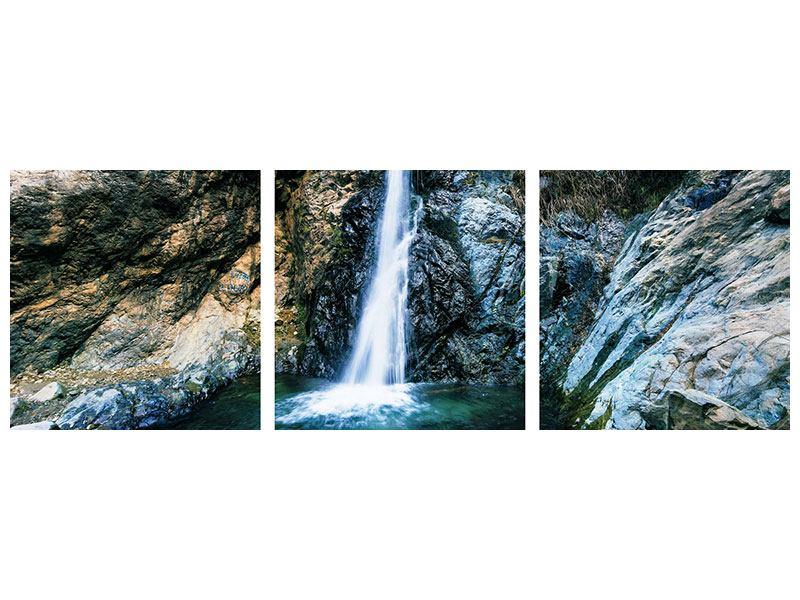 Panorama Hartschaumbild 3-teilig Bewegtes Wasser
