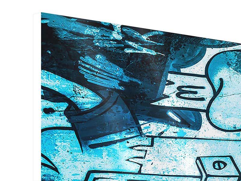 Panorama Hartschaumbild 3-teilig Graffiti