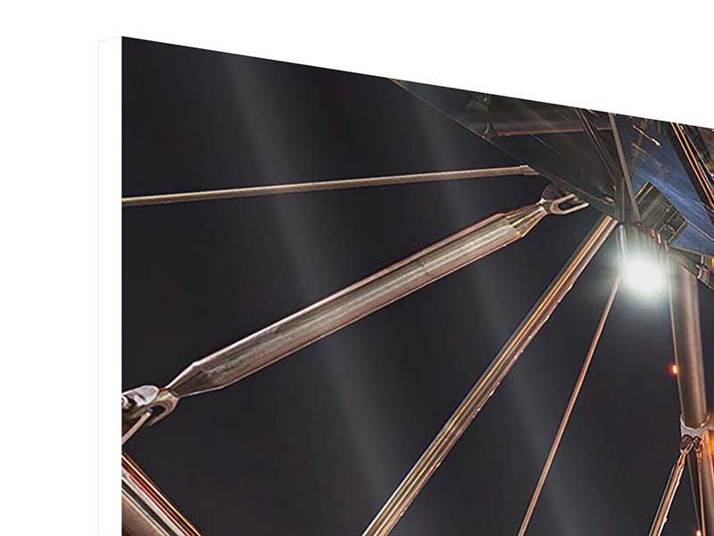 Panorama Hartschaumbild 3-teilig Brückenlichter