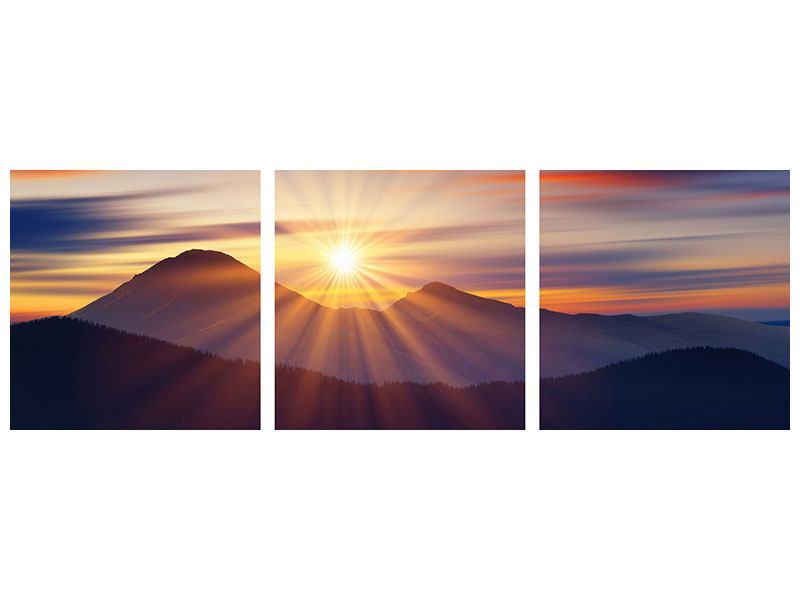 Panorama Hartschaumbild 3-teilig Märchenhafte Landschaft