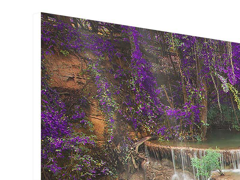 Panorama Hartschaumbild 3-teilig Garten Eden