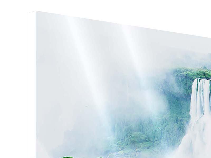 Panorama Hartschaumbild 3-teilig Wasserfälle