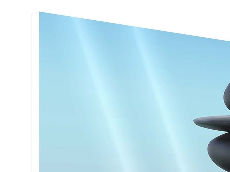 Panorama Hartschaumbild 3-teilig Zen Steine