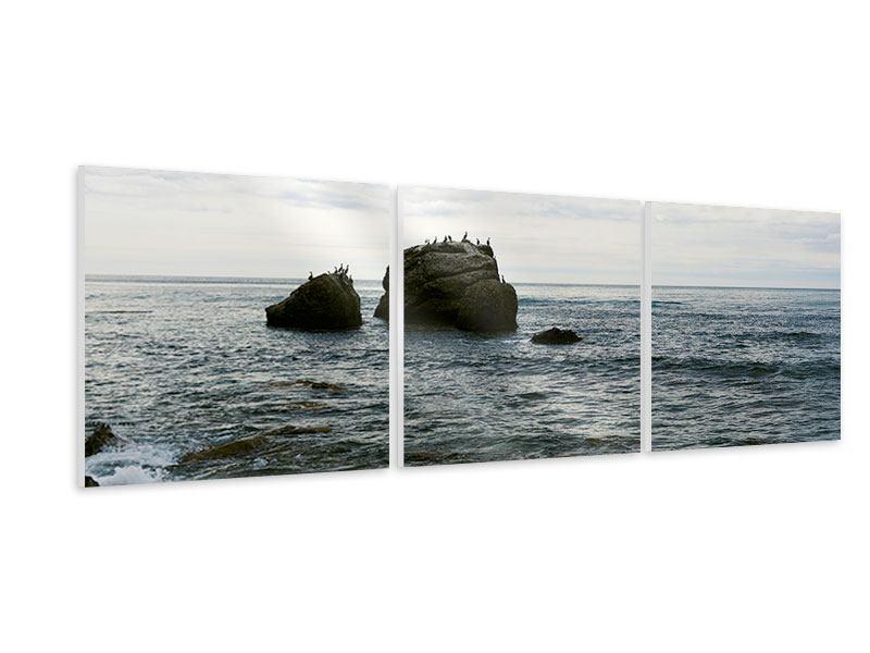 Panorama Hartschaumbild 3-teilig Leise Wellen