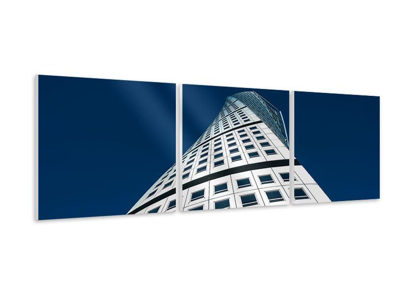 Panorama Hartschaumbild 3-teilig Meisterstück Wolkenkratzer