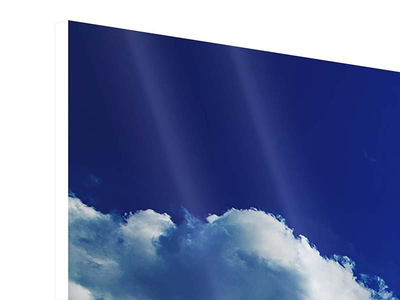 Panorama Hartschaumbild 3-teilig Der Mond