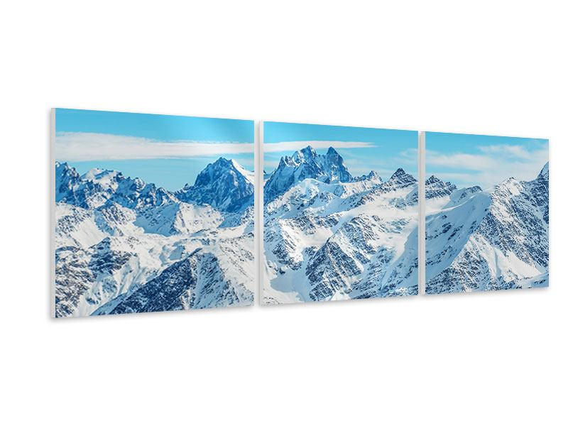 Panorama Hartschaumbild 3-teilig Alpenpanorama