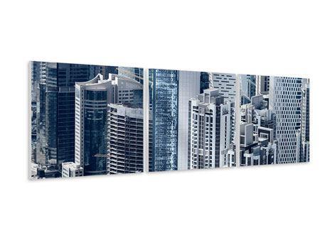 Panorama Hartschaumbild 3-teilig Die Wolkenkratzer von Dubai