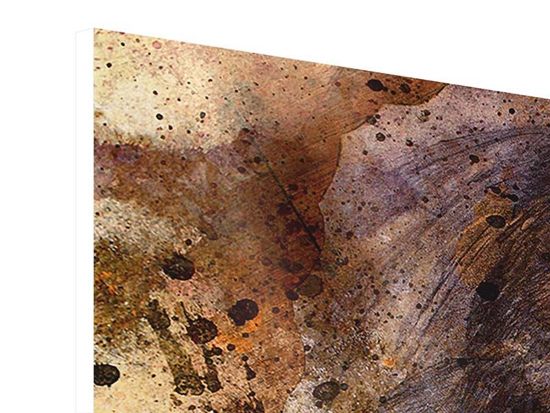Panorama Hartschaumbild 3-teilig Portrait eines Löwen