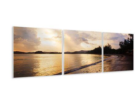 Panorama Hartschaumbild 3-teilig Das Ufer