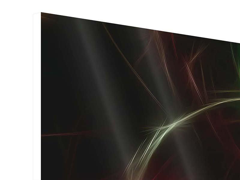 Panorama Hartschaumbild 3-teilig Fraktales Lichtspektakel