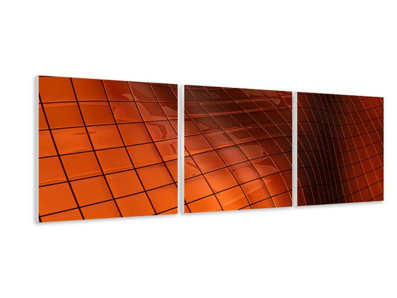 Panorama Hartschaumbild 3-teilig 3D-Kacheln