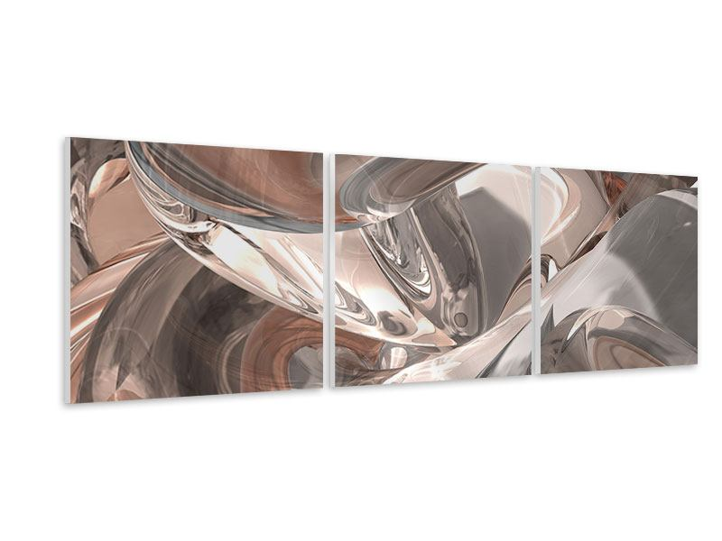 Panorama Hartschaumbild 3-teilig Abstraktes Glasfliessen