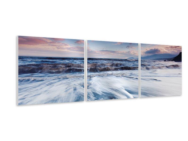 Panorama Hartschaumbild 3-teilig Ort der Sehnsucht