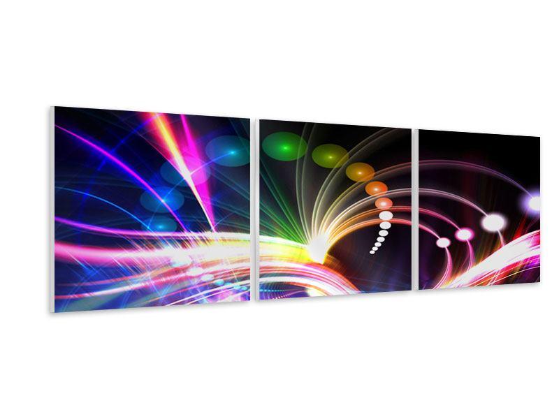 Panorama Hartschaumbild 3-teilig Abstrakte Lichtreflexe
