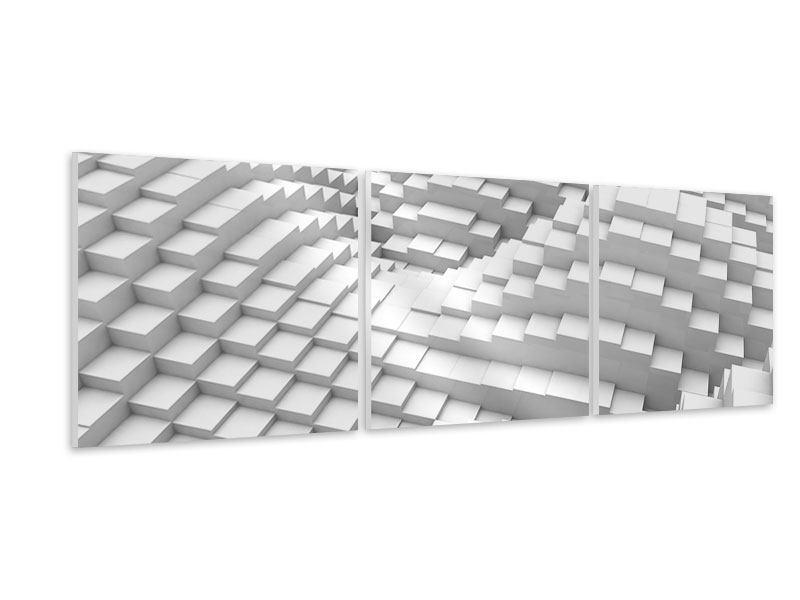 Panorama Hartschaumbild 3-teilig 3D-Elemente