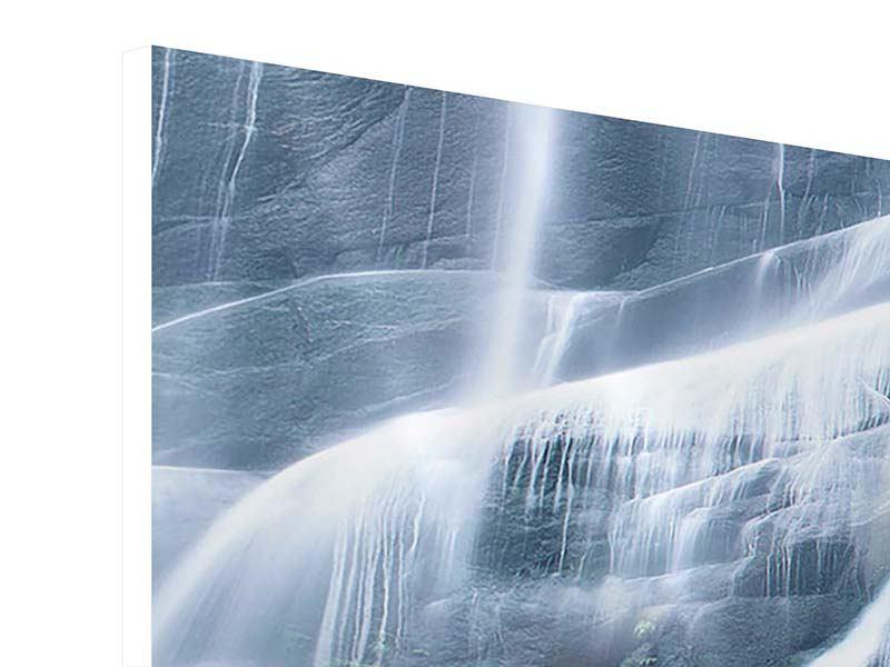 Panorama Hartschaumbild 3-teilig Grossartiger Wasserfall