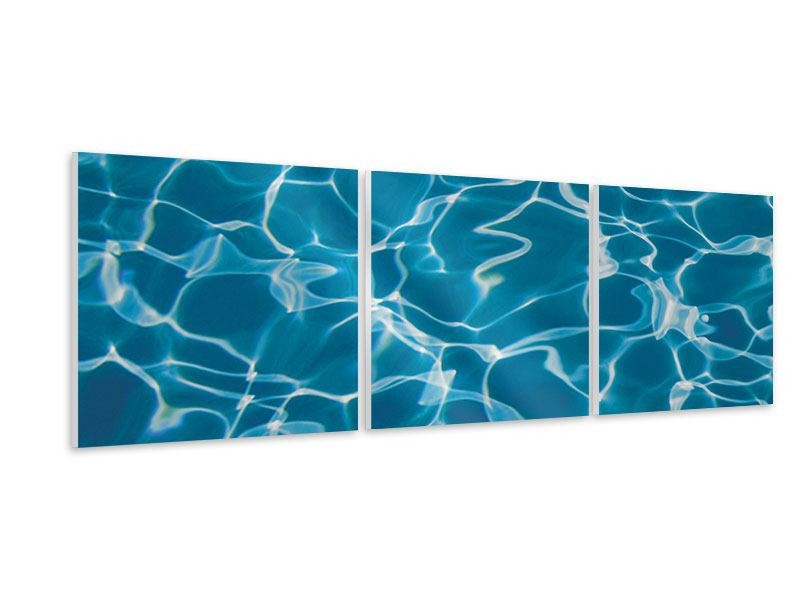 Panorama Hartschaumbild 3-teilig Pool