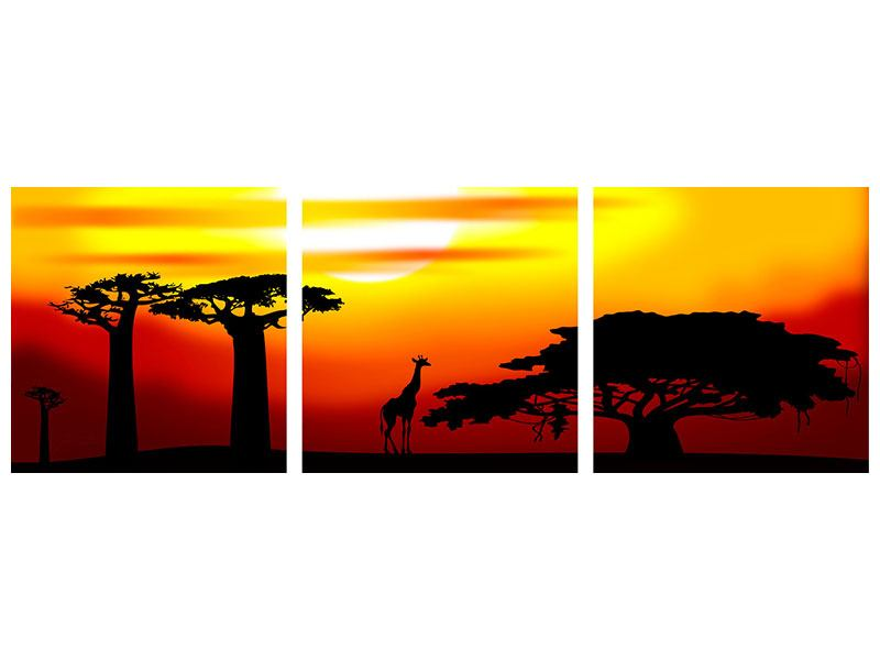 Panorama Hartschaumbild 3-teilig Faszination Afrika