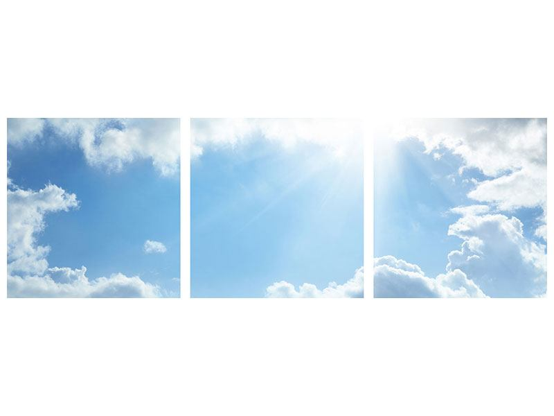 Panorama Hartschaumbild 3-teilig Himmelshoffnung