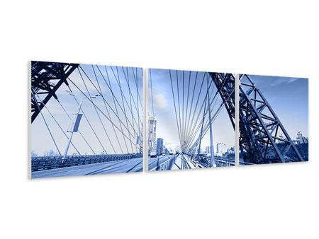 Panorama Hartschaumbild 3-teilig Schiwopisny-Brücke