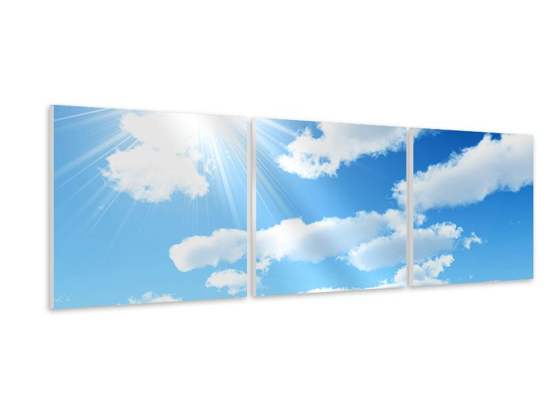 Panorama Hartschaumbild 3-teilig Am Himmel