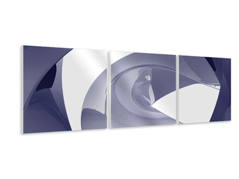 Panorama Hartschaumbild 3-teilig Abstrakte Schwingungen