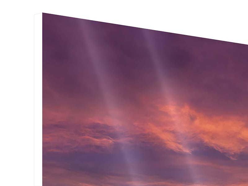 Panorama Hartschaumbild 3-teilig Abenddämmerung
