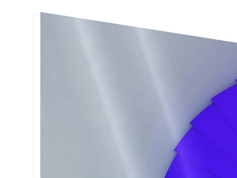 Panorama Hartschaumbild 3-teilig Bunte Wendeltreppe 3D