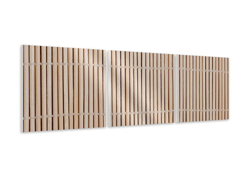 Panorama Hartschaumbild 3-teilig Lucky Bamboo