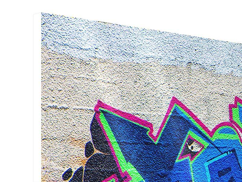 Panorama Hartschaumbild 3-teilig Graffiti NYC