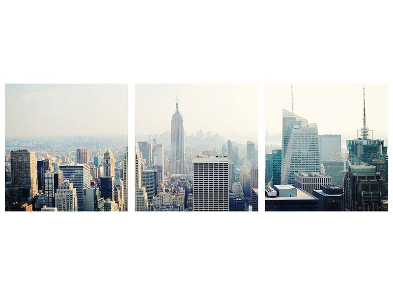 Panorama Hartschaumbild 3-teilig NYC
