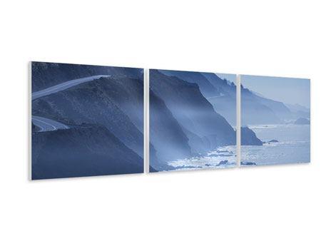 Panorama Hartschaumbild 3-teilig Bewegung im Wasser