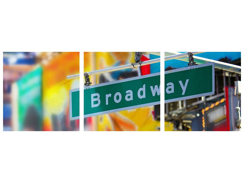 Panorama Hartschaumbild 3-teilig Broadway