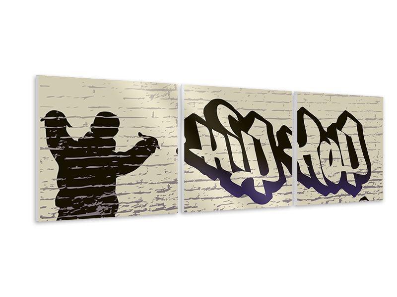 Panorama Hartschaumbild 3-teilig Graffiti Hip Hop
