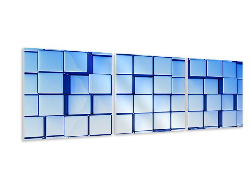 Panorama Hartschaumbild 3-teilig 3D-Symetrie