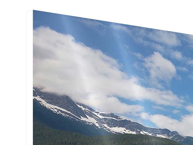 Panorama Hartschaumbild 3-teilig Diablo Bergsee