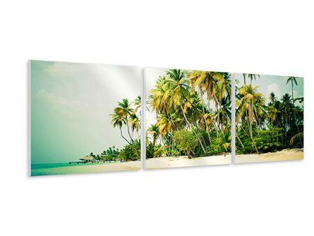 Panorama Hartschaumbild 3-teilig Tobago Cays