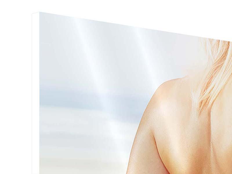 Panorama Hartschaumbild 3-teilig Rücken einer Schönheit
