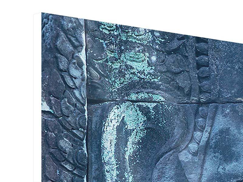 Panorama Hartschaumbild 3-teilig Buddha Statur