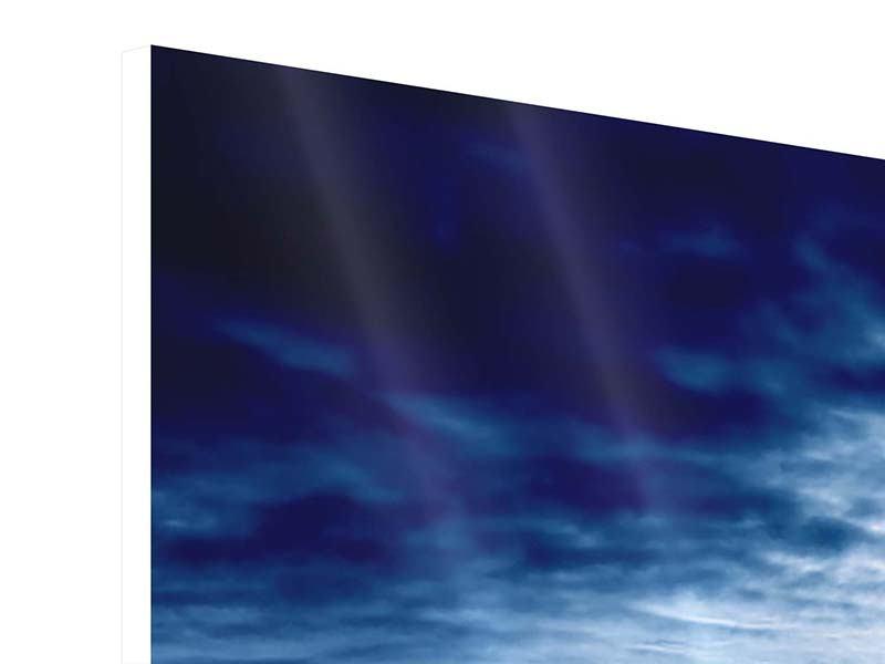 Panorama Hartschaumbild 3-teilig Mystischer Himmel